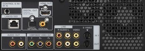 Sony HES-V1000 media server achterzijde