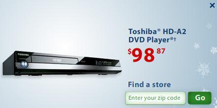 HD DVD aanbieding bij Wal Mart