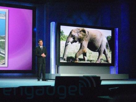 Panasonic 150 inch scherm keynote
