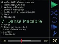 Display van de Boulder CD-speler