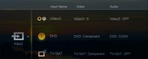 Icoon gebaseerd OSD menu