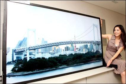Samsung LCD televisie van 82 inch