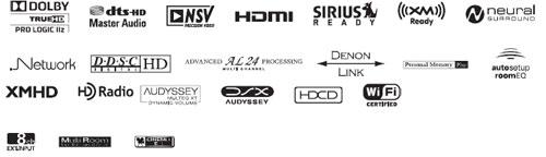 denon-avr4810-ci-av-receiver-logos